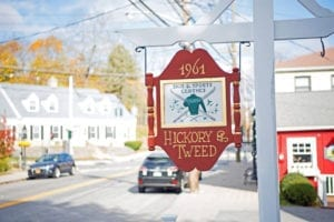 1961 Hickory & Tweed Sign