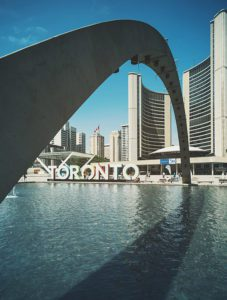Toronto Sign and Arch in Canada